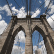 Foto Stock: Brooklyn Bridge Architecture