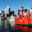 Red Ship in Sydney Harbour, Australia — Stock Photo #3520454
