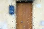 Home Door through the Windshield — Stock Photo