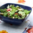 Summer salad with asparagus and tomatoes — Stock Photo
