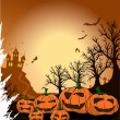 Royalty-Free Stock Vector Image: Spooky pumpkins on a halloween night