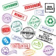 Royalty-Free Stock Imagen vectorial: Vector stamp set collection