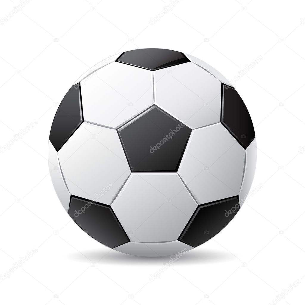 Vector illustration of black and white soccer ball over white background — Stock Vector #2952427