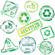 Vector eco stamp - Stock Vector