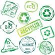 Vector eco stamp — Stock Vector