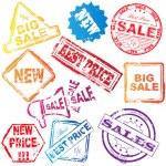 Vector sale stamp set — Stock Vector