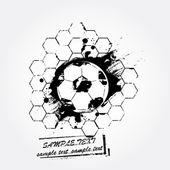 Grunge soccer ball — Stock Vector
