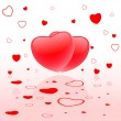 Stock vektor: Background with hearts