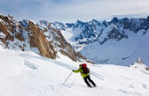 Skiing — Stockfoto