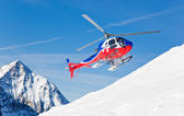 Heli Skiing Helicopter — Stock Photo