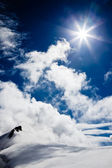 High mountain landscape: glaciers and clouds — Stock Photo