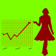 Royalty-Free Stock Vector Image: Business chart and women