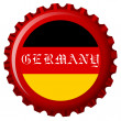 Germany stylized flag on bottle cap — Stock Vector