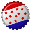 Royalty-Free Stock Vector Image: Stylized bottle cap with states flag