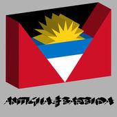 Antigua and barbuda 3d flag — Stock Vector