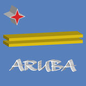 Aruba 3d flag — Stock Vector