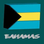 Bahamas 3d flag — Stock Vector
