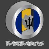Barbados 3d flag — Stock Vector