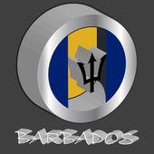 Barbados 3d flag — Stock Vector