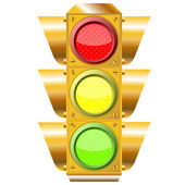 Cross road traffic lights — Vetor de Stock