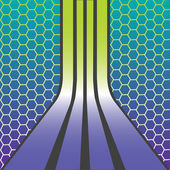 Retro stripes composition — Stock Vector