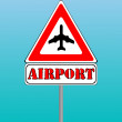 Airport sign and blue sky background — Stock Vector