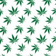 Stock Vector: Cannabis seamless pattern extended