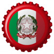 Italy abstract flag on bottle cap — Stock Vector