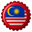 Malaysia abstract flag on bottle cap — Stock Vector