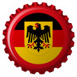 German popular flag over bottle cap — Stock Vector #3001313