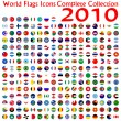 Vecteur: World flags icons collection