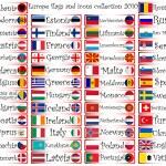 Европа флаги и икон коллекции — Cтоковый вектор