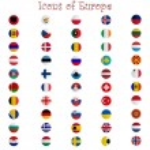 iconos de Europa contra blanco — Vector de stock  #3009859