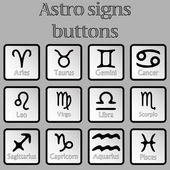 Astro signs buttons — Stock Vector