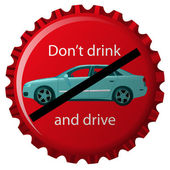 Dont drink and drive — Stock Vector