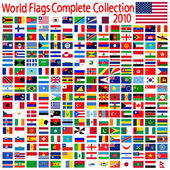 World flags collection — Stock Vector
