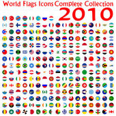 World flags icons collection — Vetor de Stock