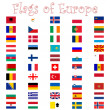 Flags of europe against white — Stock Vector #3010260