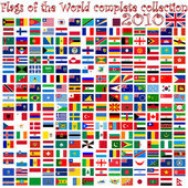 Flags of the world against white — Vetor de Stock