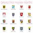 Germany icons collection against white - Stock Vector