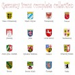 Royalty-Free Stock Vector Image: Germany icons collection against white