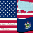 Vector de stock : Maine state illustration