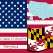 Maryland state illustration — Vettoriali Stock