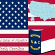 North Carolina State Abbildung — Stockvektor