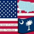 South carolina state illustration - Imagen vectorial