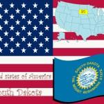 South dakota state illüstrasyon — Stok Vektör