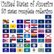 United states of america collection — 图库矢量图片