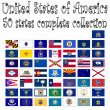 Cтоковый вектор: United states of america collection