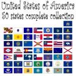 kolekcja w Stany Zjednoczone Ameryki — Wektor stockowy