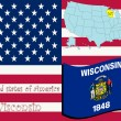 Wisconsin state illustration — ベクター素材ストック